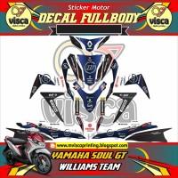 DECAL STIKER MOTOR FULL BODY YAMAHA SOUL GT DESAIN WILLIAMS TEAM