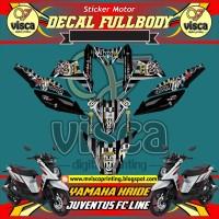 DECAL STIKER MOTOR FULL BODY YAMAHA X-RIDE JUVENTUS FC LINE