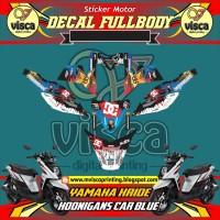 DECAL STIKER MOTOR FULL BODY YAMAHA X-RIDE HOONIGANS CAR BLUE