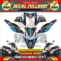 DECAL STIKER MOTOR FULL BODY YAMAHA X-RIDE MONSTER ENERGY TECH3