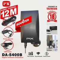 PX Antena TV Digital DA-5400B Indoor Outdoor Kabel 12 Meter Booster