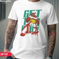 T Shirt DP797Classic Robot - Getter Shin Robo - Putih, M