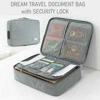 Document bag with security lock / DREAM TRAVEL tas dokumen