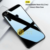 Xiaomi Redmi Note 8 Case Luxury Tempered Glass Premium Case
