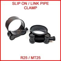 Klem Pipa Slip On Knalpot Racing R25 MT25 MT-25 Link Mid Pipe Clamp R