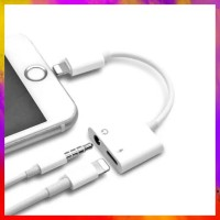 SUPER MURAH DUAL CONNECTOR IPHONE 7 8 X LIGHTNING AND JACK 35MM