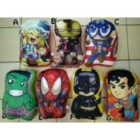 4 PCS Paket Free Ongkir Bantal Fullbody Boneka Superhero 1 Paket
