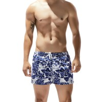 [PROMO] SEOBEAN Mens Quick Drying Home Polyester Floral Printing