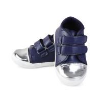 Sepatu Anak unisex umur 1 2 TAHUN velcro antislip hitam. LS19