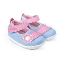 C18 sepatu anak bayi perempuan denim lembut model 1 2 3 tahun terbaru