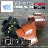 Tas Kulit Kamera/ Camera Leather Bag/ Case Canon EOS M50 M5 15-45 MM