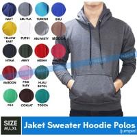 Jaket Sweater Polos Hoodie Jumper Abu Tua