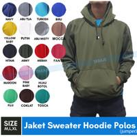 Jaket Sweater Polos Hoodie Jumper Hijau Army