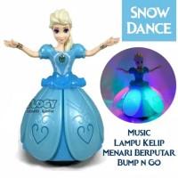 MB13 Mainan Snow Dance 131C Boneka Menari Frozen Elsa Musik dan Lampu