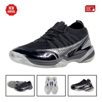 Hi-Qua Leggera Sepatu Bulutangkis/Badminton/Olahraga Super Ringan - Hitam, 40