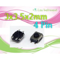 Micro Switch 4 PIN Tactile Touch Push Button 3x3.5x2mm SMD SMD-4 SMT
