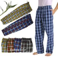 Celana panjang pria kotak salur / celana santai pria