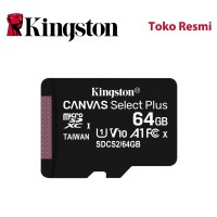 Kingston MicroSD Card Canvas Select Plus Class 10 MicroSDXC 64GB