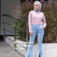 Terbaru model celana jeans cutbray wanita