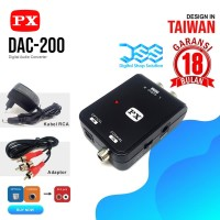 Audio Converter RCA to Digital Optical PX DAC 200