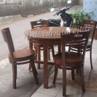 FREE ONGKIR Meja makan 4 kursi minimalis kayu jati mebel jepara
