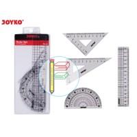 Penggaris Set Matematika Joyko Mistar Busur Siku Math Set RL-PS2