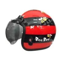 Helm Igloo Retro Bee Red Black + Visor