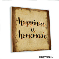 Poster Kayu Quotes Cafe Vintage Wall Decor Rumah MDF 20x20cm