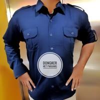 Seragam Baju Kemeja Panjang Trans TV Net TV Hitam Biru Navy PDH PDL