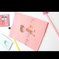 Sampul Kain Buku Tulis Sekolah Tema Dating / Fabric Cover Book