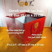 Paper Bag Merah Tebal ( P x L x T : 27 x 27 x 27 cm )