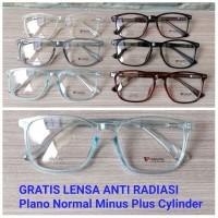 Frame Kacamata Minus + Lensa Anti Radiasi Kacamata Pria Wanita 7768