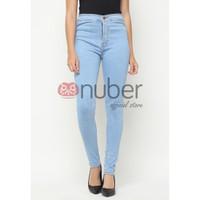 Celana Panjang Jeans Highwaist Skinny Stretch Washed Blue-Petunia