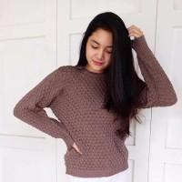 Premium RoundHand Popcorn Sweater 1 | Baju Nanas Rajut Pineapple