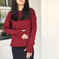 Premium RoundHand Secker Sweater 7Gauge (Tebal) | Sweater Wanita