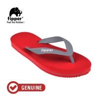 Fipper Slick / Sandal Jepit Unisex / Red - Grey