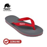 Fipper Slick / Sandal Jepit Unisex / Grey - Red