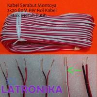 Kabel Serabut Montoya 2x20 80M Per Rol Kabel Listrik Merah Putih