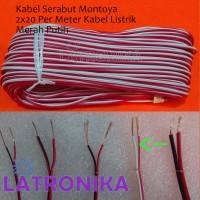 Kabel Serabut Montoya 2x20 1M Per Meter Kabel Listrik Merah Putih