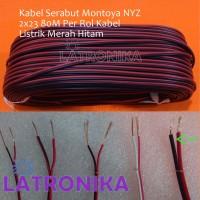 Kabel Serabut Montoya NYZ 2x23 80M Per Rol Kabel Listrik Merah Hitam
