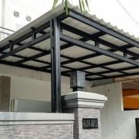kanopi baja ringan atap alderon double layer