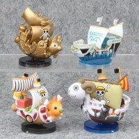 Action Figure One Piece PVC Luffy Pirates Thousand Sunny Ship