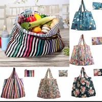 EcoFriendly Tas belanja lipat kantong lipat kantong shopping motif