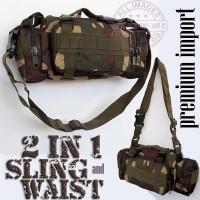 Tas Tentara Selempang dan Pinggang 2 in 1 Terbaru - Waistbag Army