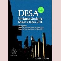 DESA Undang-Undang Nomor 6 Tahun 2014 Plus Kamus Penunjuk