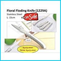 Floral Folding Knife Pisau Lipat Bunga Guna Serba Oasis Potong