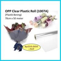 OPP CLEAR PLASTIC ROLL TEBAL BUNGA WRAP BARANG KERTAS