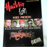 Majalah Hai Klip Haiklip Korn Kidrock RATM Limp Bizkit Bonus Poster