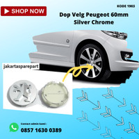 Dop Velg Peugeot 60mm Silver Chrome