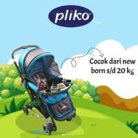 Kereta Dorong Bayi Stroller Pliko 268 Grande Sky Blue